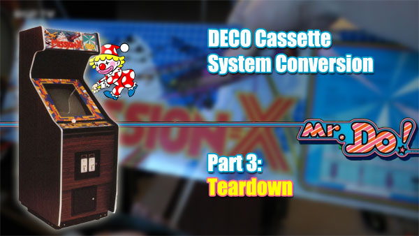 Header image - Mr Do DECO cab set on blurred marquee with text legend.