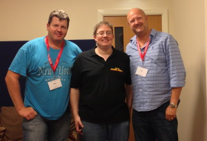 Group photo of Chris Wilkins (boyo), James (RGP) and Paul Hughes, Saturday 31st August 2013
