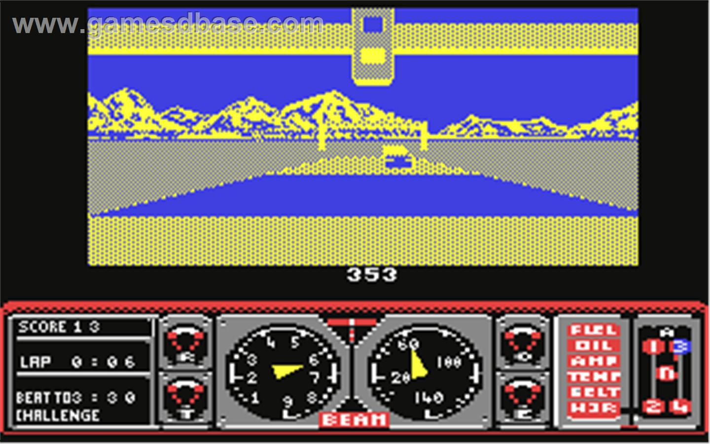 Hard Drivin Commodore 64 Screenshot