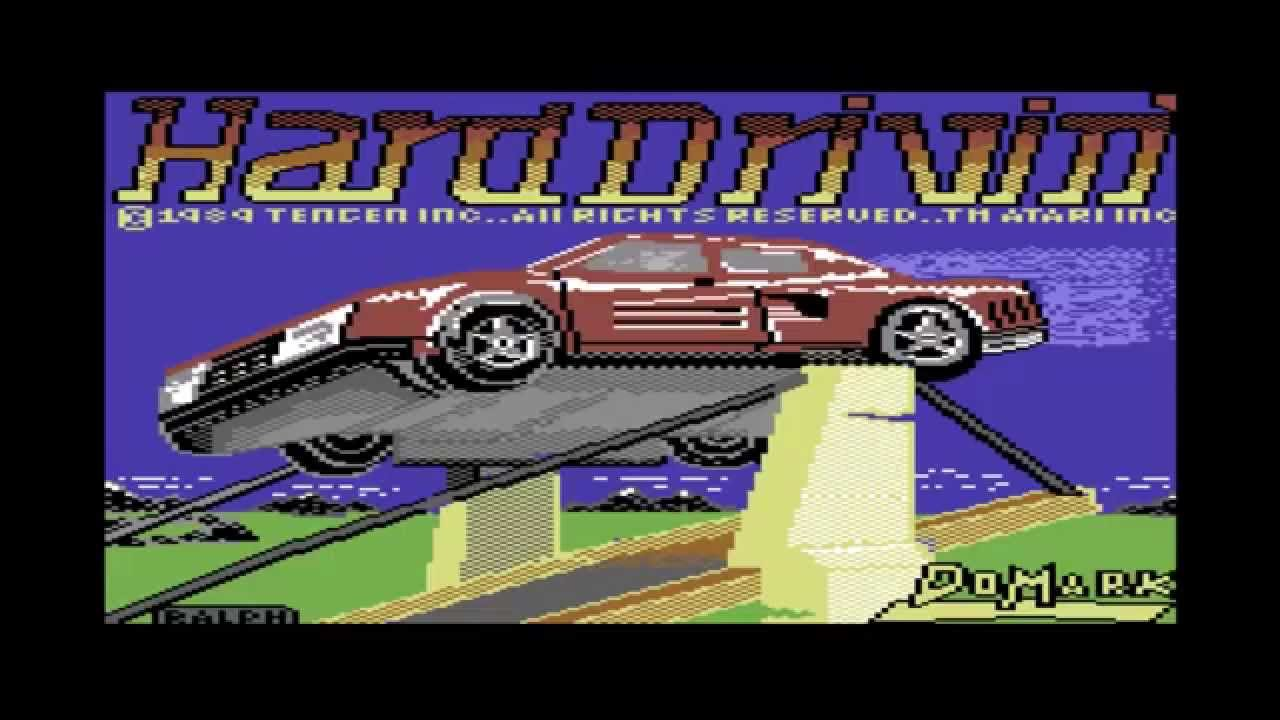 Hard Drivin Commodore Titlescreen