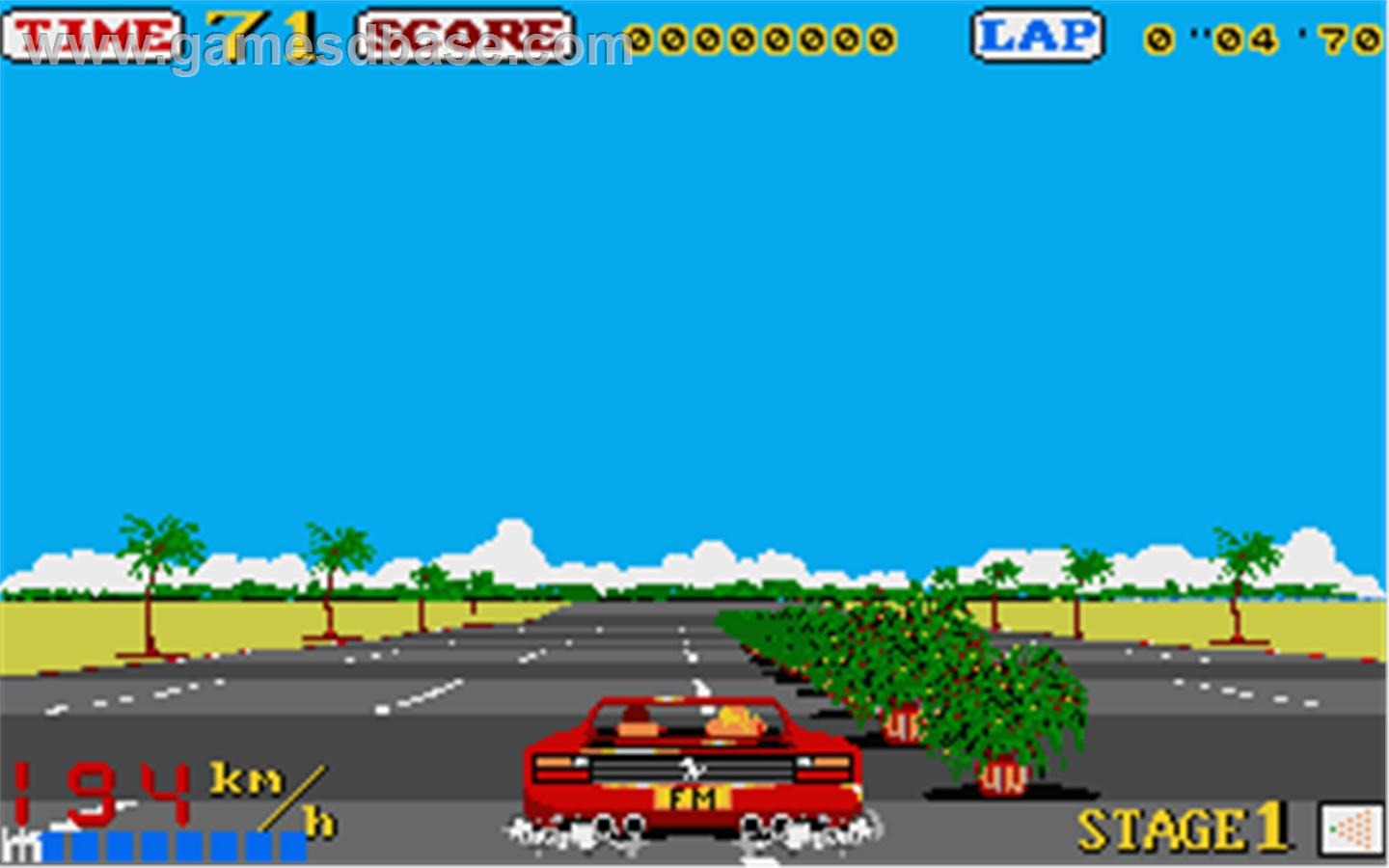 OutRun Commodore Amiga Screenshot