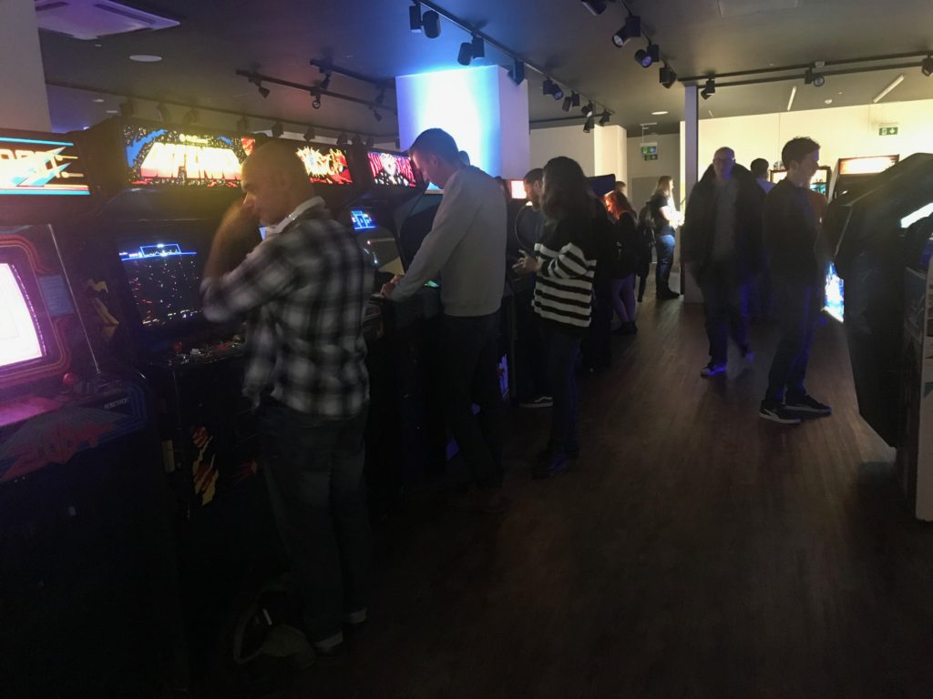 Image of customers playing video games